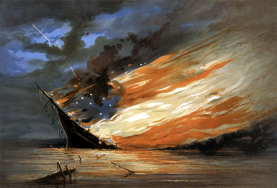 Civil War Painting - The Fate Of The Rebel Flag by War Is Hell Store