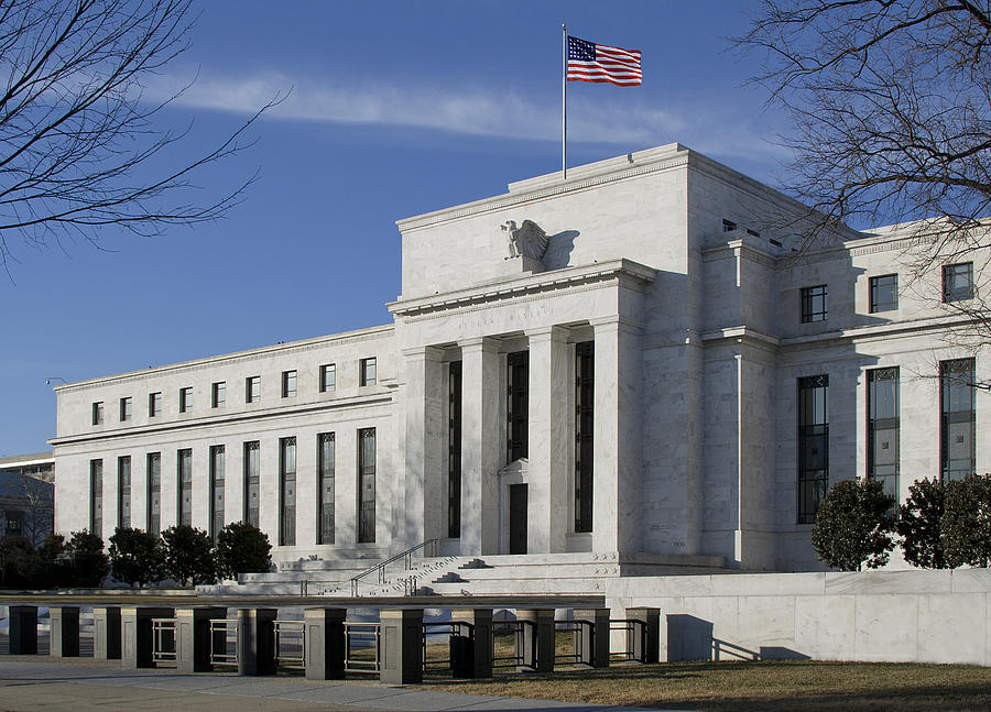 Fed Photograph - The Federal Reserve In Washington Dc by Brendan Reals
