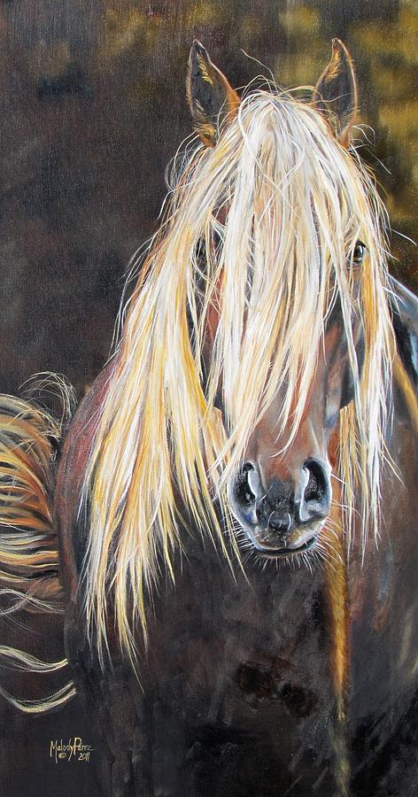 Wild Horse Mustang Equine Western Painting - The Feral by Melody Perez