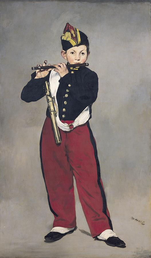 French Painting - The Fifer by Edouard Manet