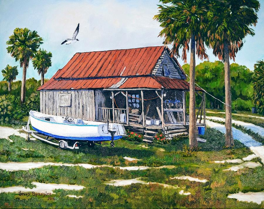 The fisherman 39 s cottage painting by jerry spangler - The fishermans cottage ...