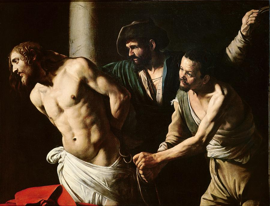 The Painting - The Flagellation Of Christ by Caravaggio