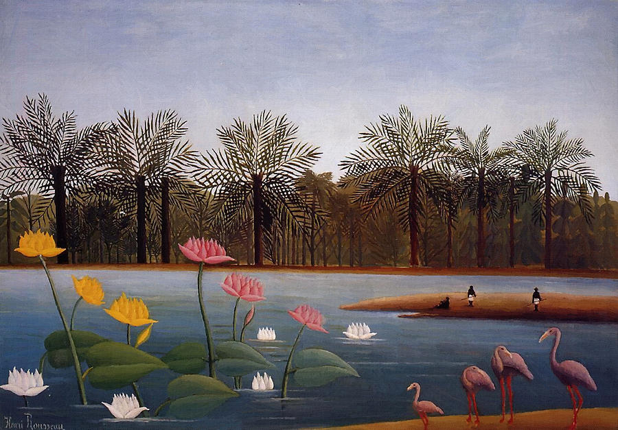 The Flamingoes Painting