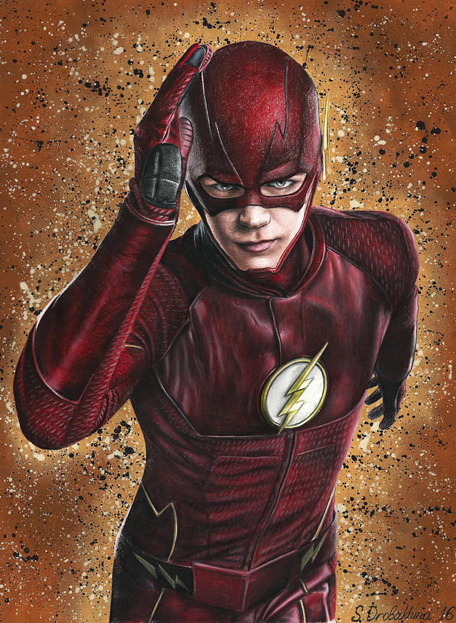 The Flash is a drawing by Svetlana Drobakhina which was uploaded on ...
