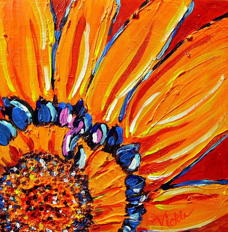 The flower painting by vickie warner for Pre printed canvas to paint for adults