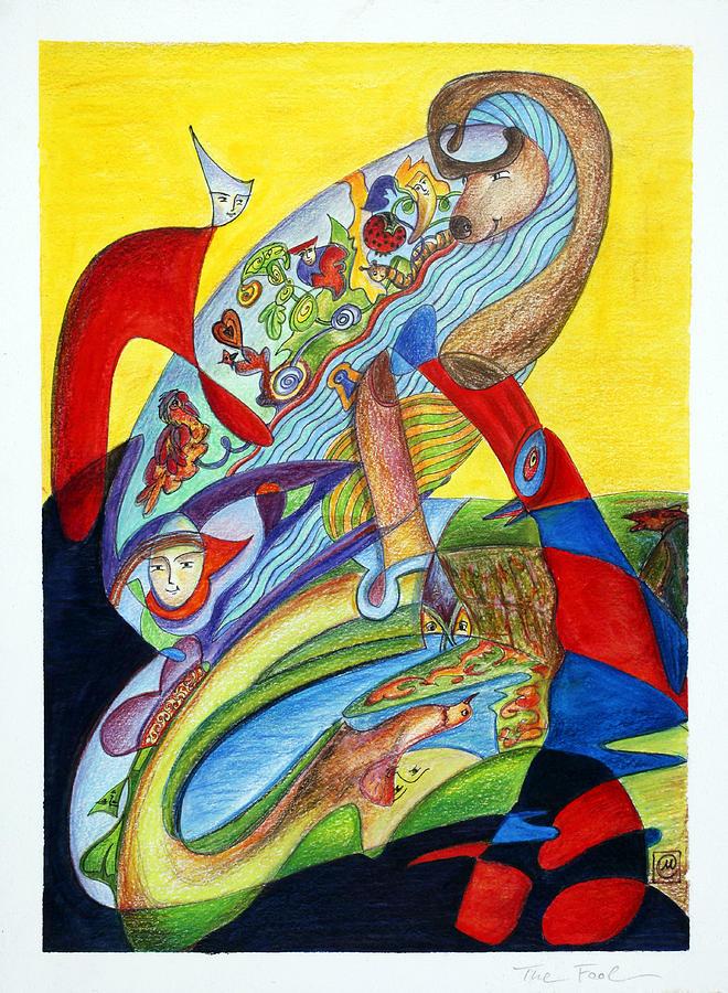 Fool Painting - The Fool by Monika Kretschmar