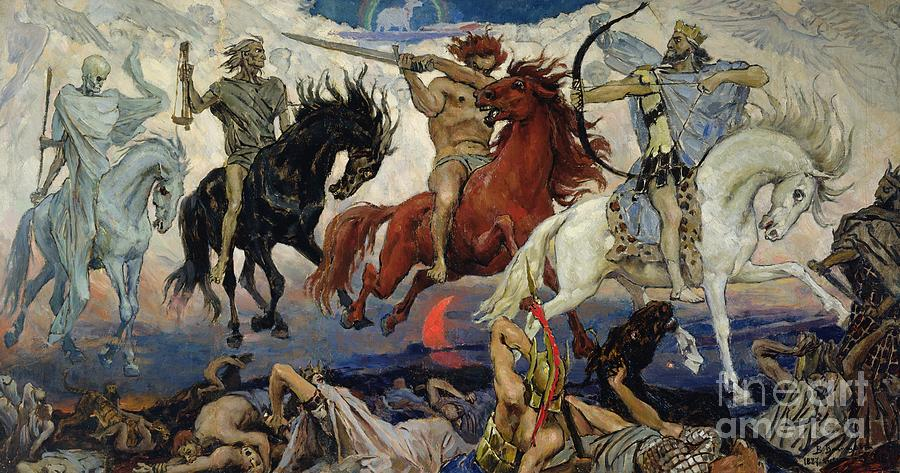 The Painting - The Four Horsemen Of The Apocalypse by Victor Mikhailovich Vasnetsov
