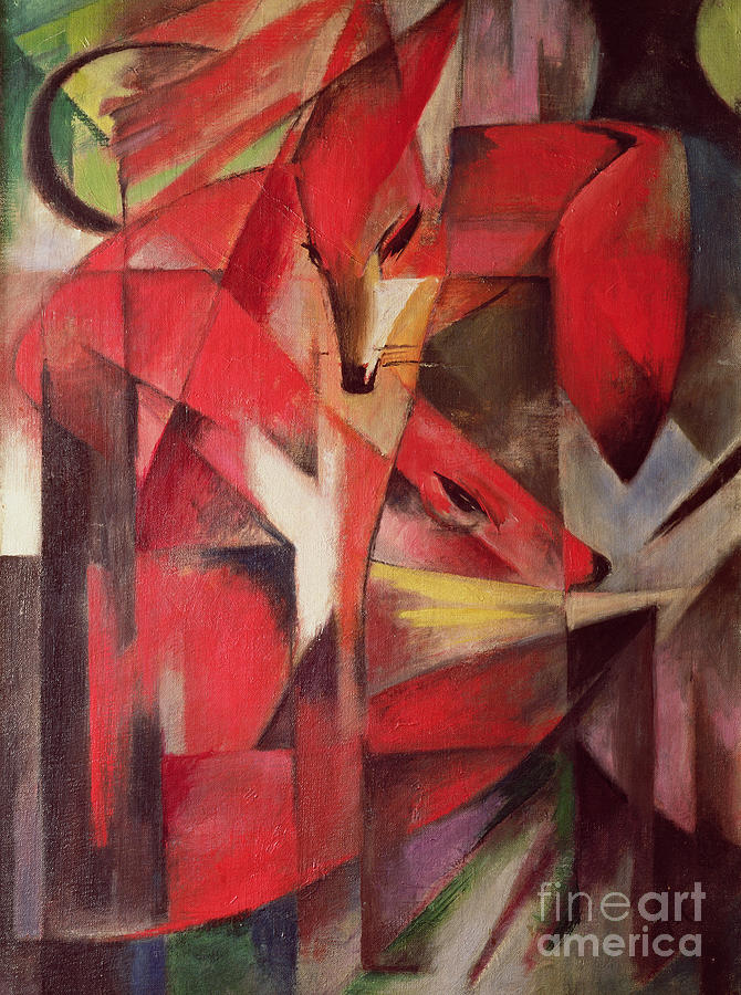 Bal41124 Painting - The Fox by Franz Marc