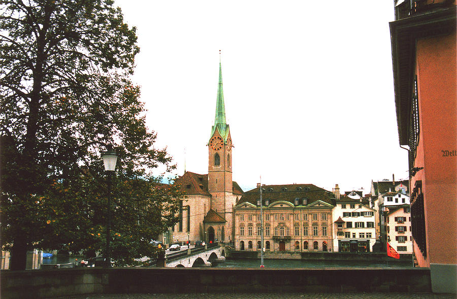 Fraumunster Photograph - The Fraumunster Abbey In Zurich Switzerland by Susanne Van Hulst