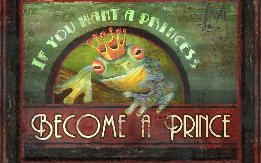 Frog Painting - The Frog Prince by Joel Payne