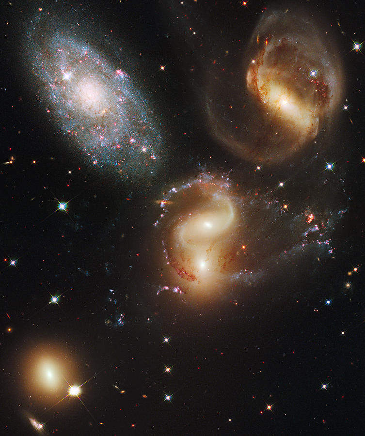 The Galaxies Of Stephans Quintet Photograph