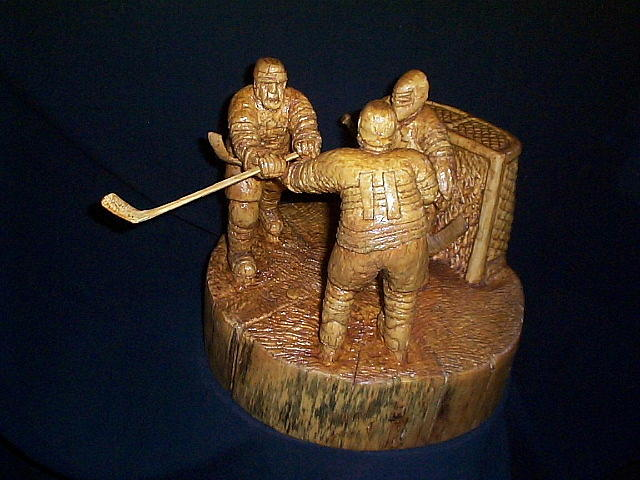 Hockey Sculpture - The Game by Deverne Rushton