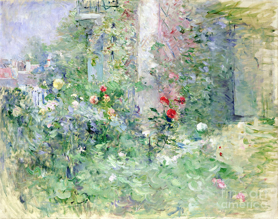 The Painting - The Garden At Bougival by Berthe Morisot