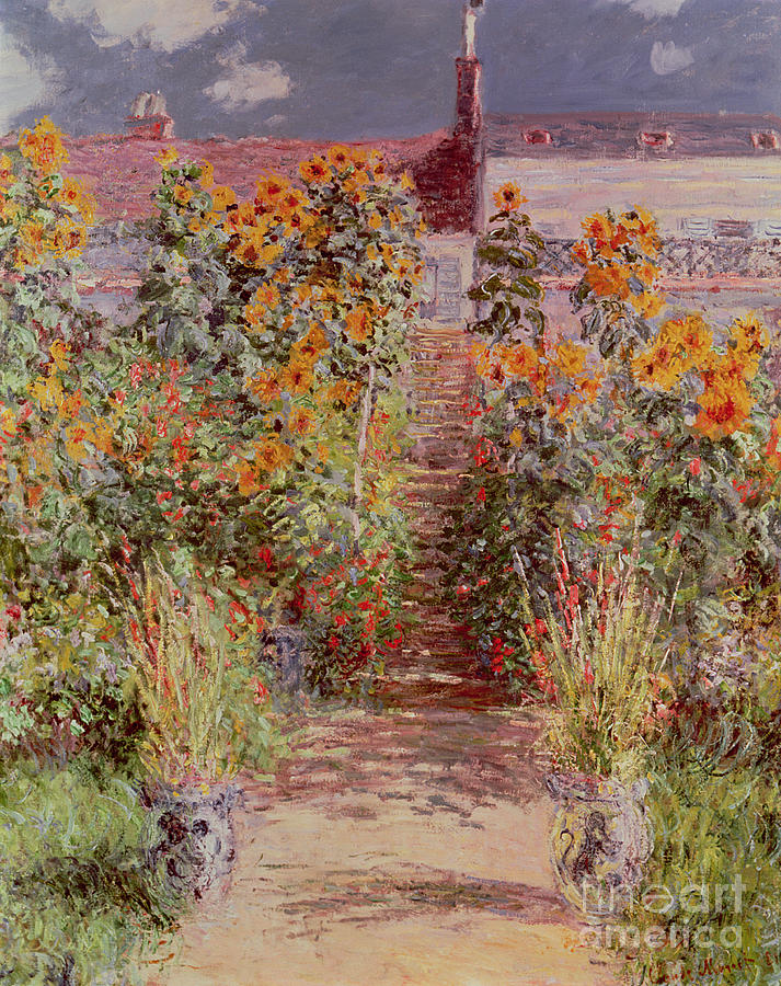The Garden At Vetheuil Painting