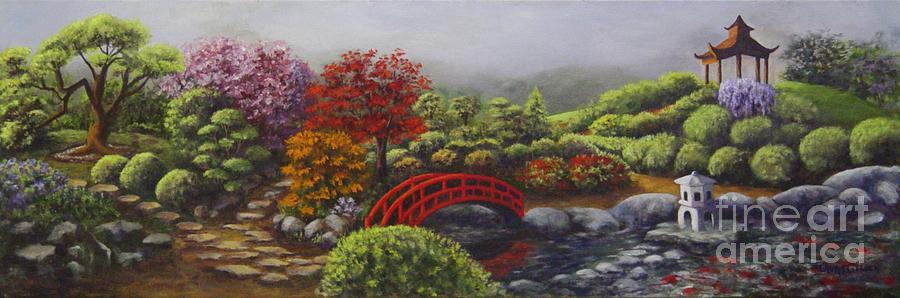 Garden Painting - The Garden Of Koan by Laurie Golden