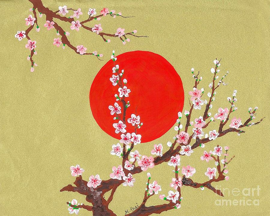 The Glory Morning Sakura Painting