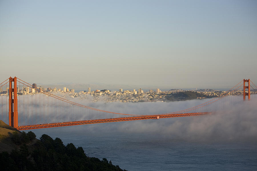 Outdoors Photograph - The Golden Gate Bridge From Marin by Richard Nowitz