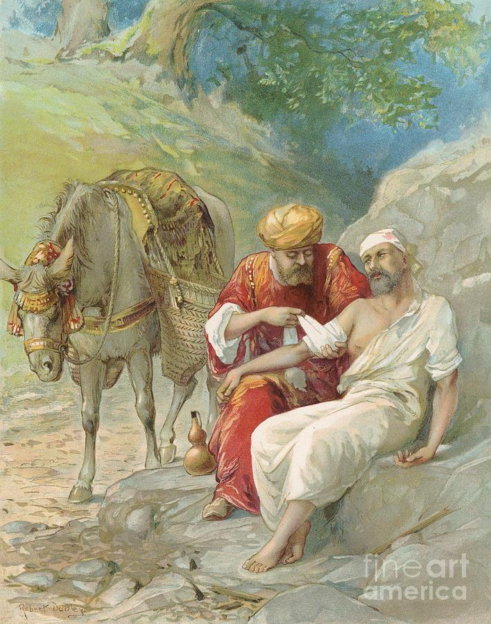 Bible Stories; Biblical; The Good Samaritan; Healing; Kindness; Parable; Jesus Christ Painting - The Good Samaritan by Ambrose Dudley