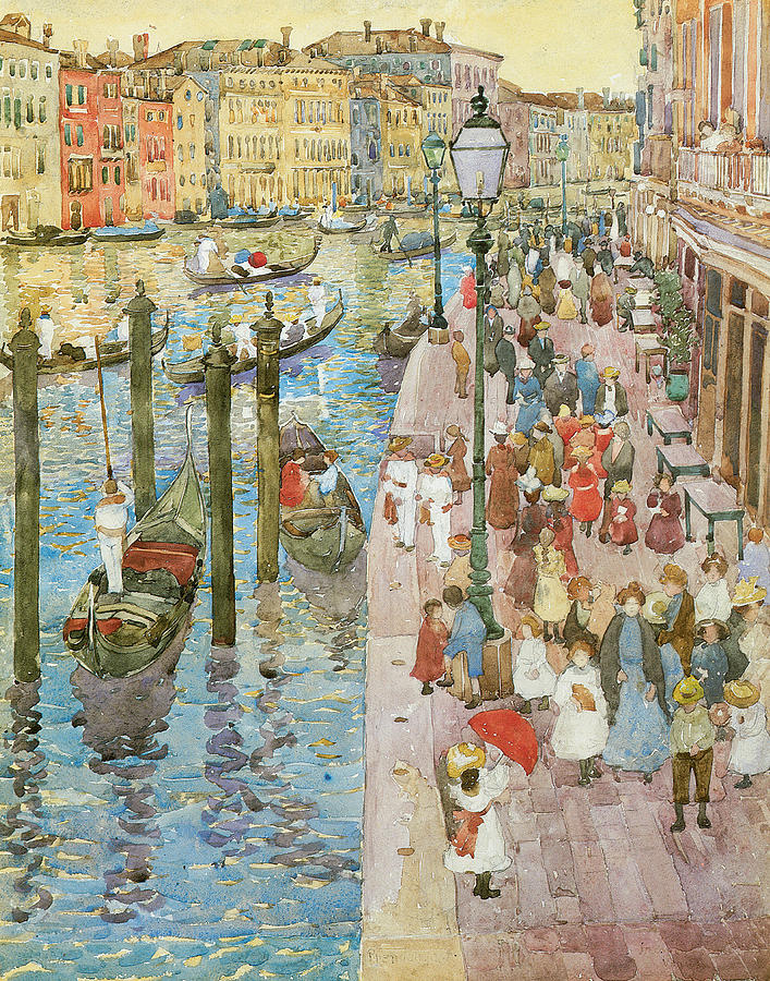 Maurice Prendergast Painting - The Grand Canal Venice by Maurice Prendergast