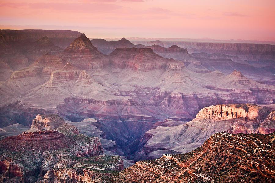 The Grand Canyon  South Rim At Dusk Photograph