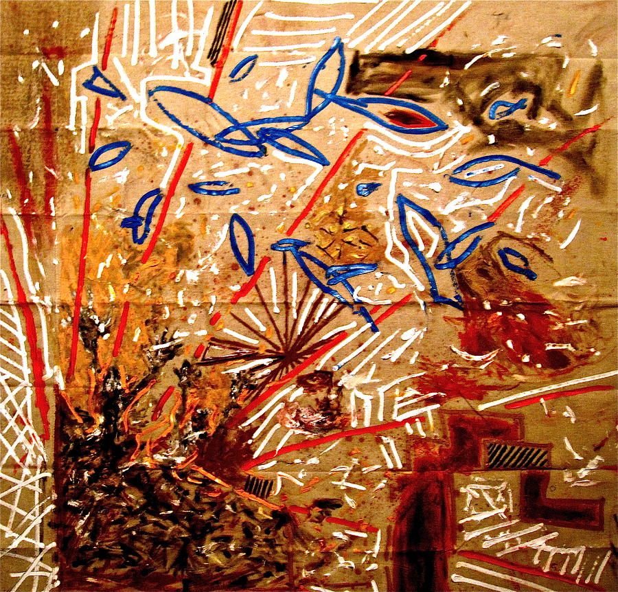 Bombs Painting - The Great Bombing by Matthew  Becker