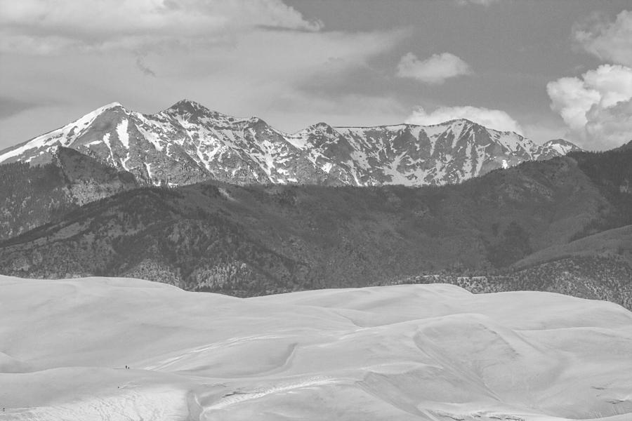 The Great Colorado Sand Dunes; Great Sand Dunes National Park And Preserve; Sand Dunes Black And White Prints; Sand Dunes Black And White Canvas Art; Colorado; Sand; Dunes; Nature Photography Prints;   Photograph - The Great Colorado Sand Dunes  by James BO  Insogna