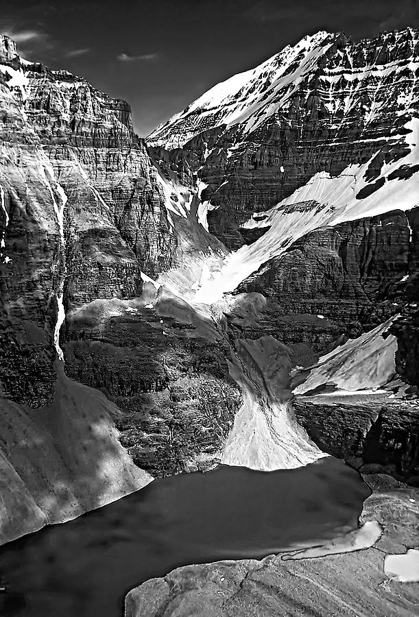 Canadian Rockies Photograph - The Great Divide Bw by Steve Harrington