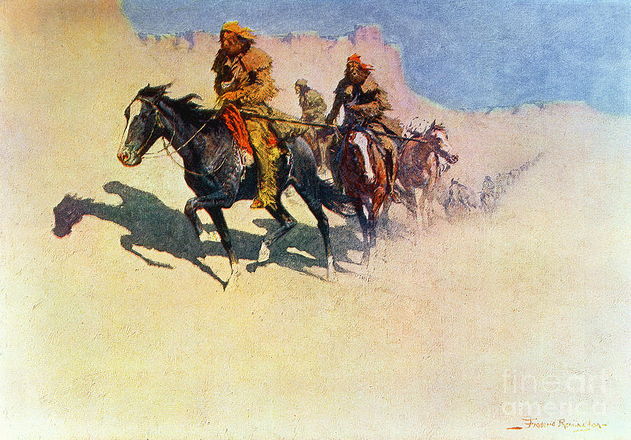 Jedediah Painting - The Great Explorers by Frederic Remington