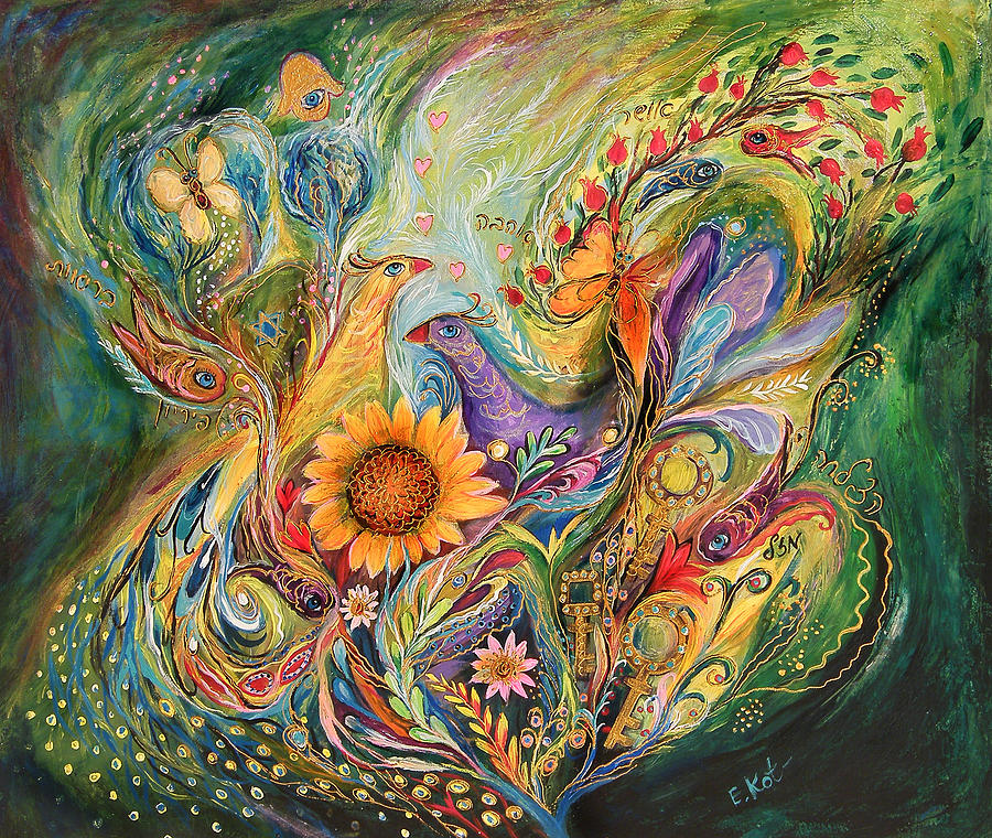 Original Painting - The Green World by Elena Kotliarker