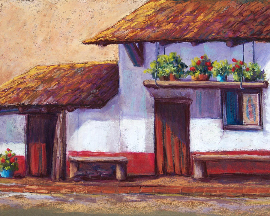 Landscape Pastel - The Hanging Garden by Candy Mayer