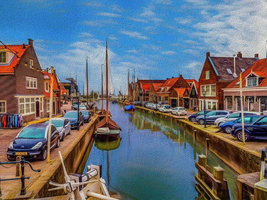 The Harbour At Monnickendam Photograph