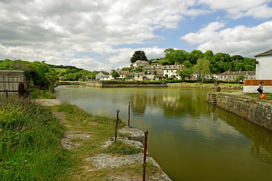 The Harbour With No Boats, Pentewan Photograph