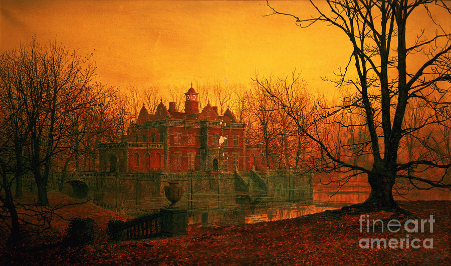 Bal9665 Painting - The Haunted House by John Atkinson Grimshaw