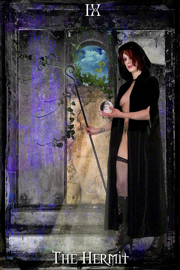 Divine Digital Art - The Hermit by Tammy Wetzel