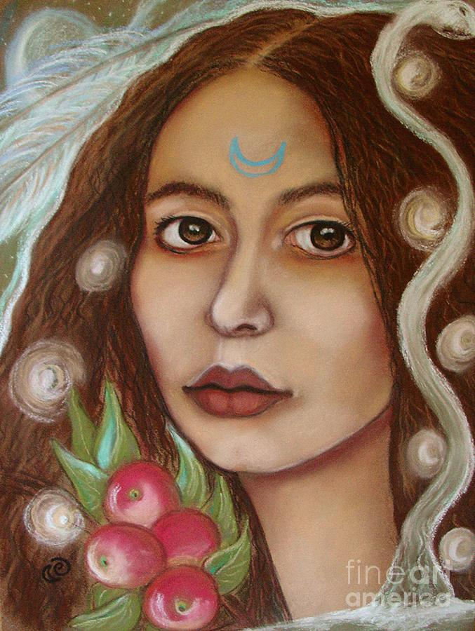 Goddess Painting - The High Priestess by Tammy Mae Moon