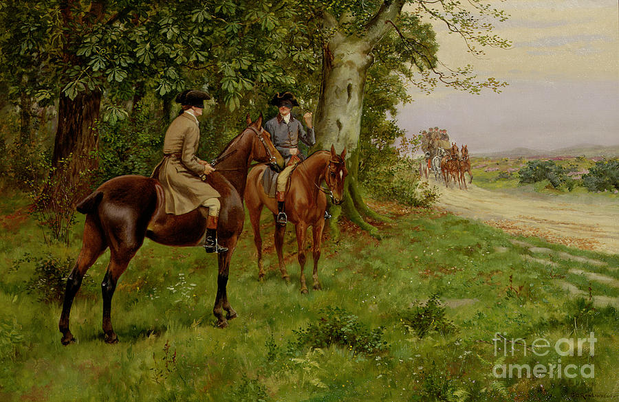 The Highwaymen (oil On Canvas) By George Derville Rowlandson (1861-1930) Painting - The Highwaymen by George Derville Rowlandson