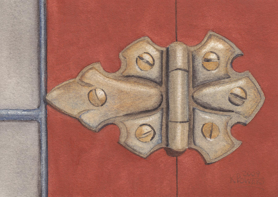 Old Painting - The Hinge by Ken Powers