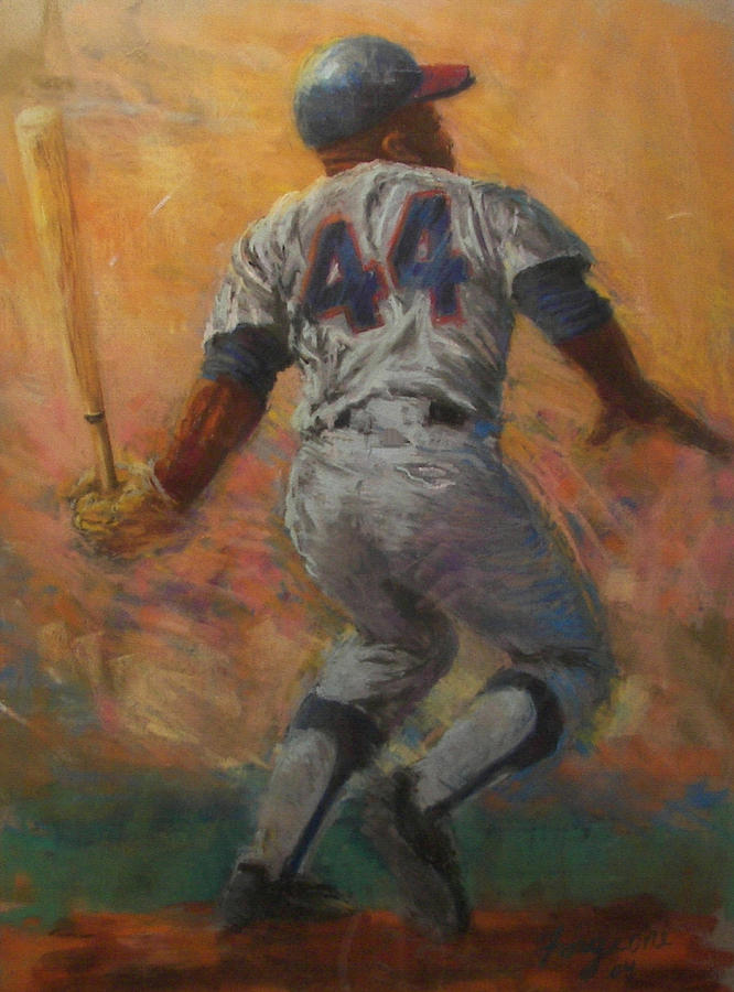 Hank Painting - The Homerun King by Tom Forgione