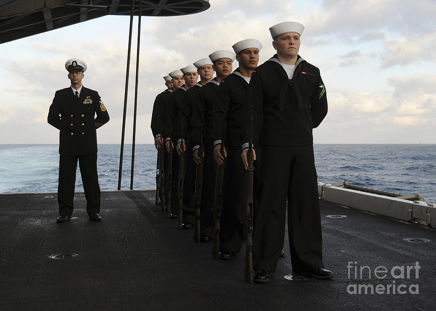 The Honor Guard Stands At Parade Rest Photograph