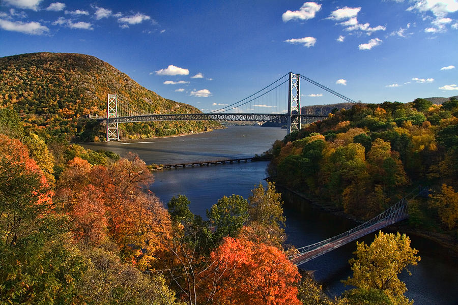 Hudson River Photograph - The Hudson River Valley In Autumn by June Marie Sobrito