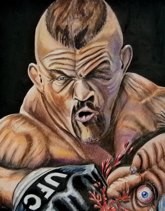 Ufc Drawings - The Iceman Ufc Drawings