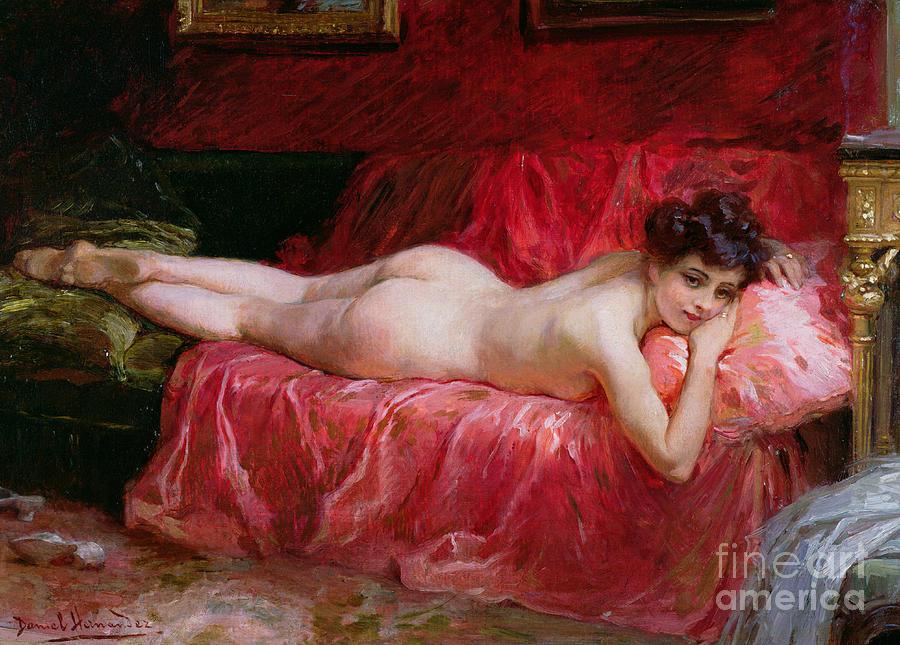 Nude; Siesta Painting - The Idle Hour by Daniel Hernandez