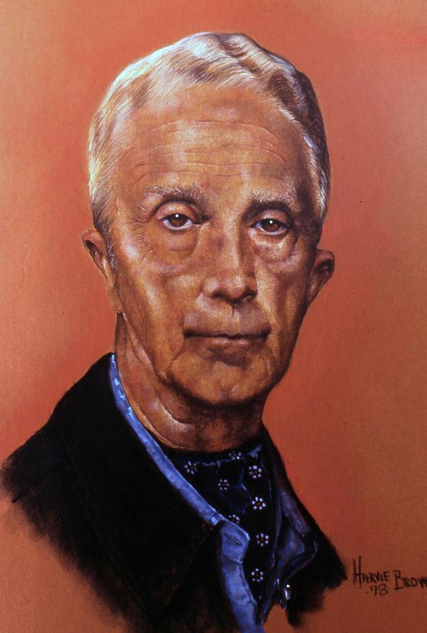 Portrait Pastel - The Illustrator by Harvie Brown