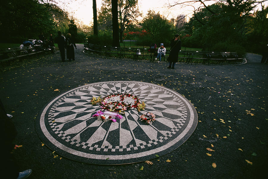 Strawberry Fields Photograph - The Imagine Mosaic, A Memorial To John by Melissa Farlow