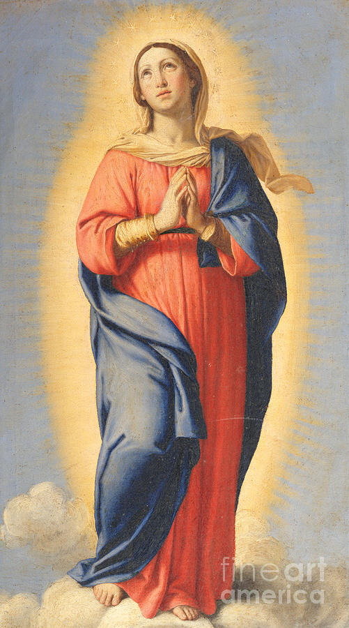 Mary Painting - The Immaculate Conception by Il Sassoferrato
