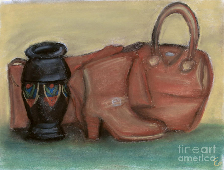 Leather Painting - The Impulse Buy by Cassandra Geernaert