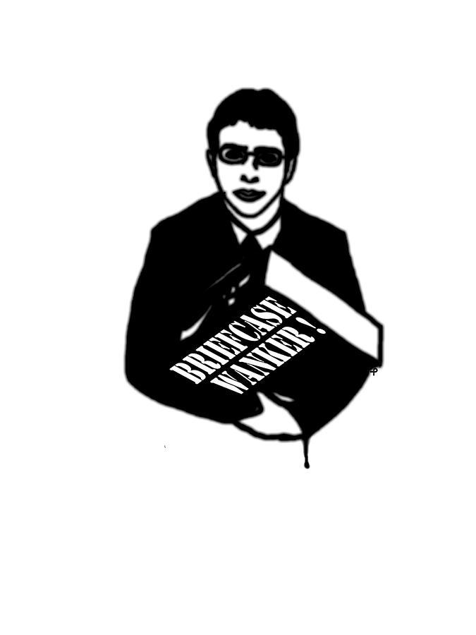 Briefcase Wanker Drawing - The Inbetweeners -  Briefcase Wanker by Paul Telling