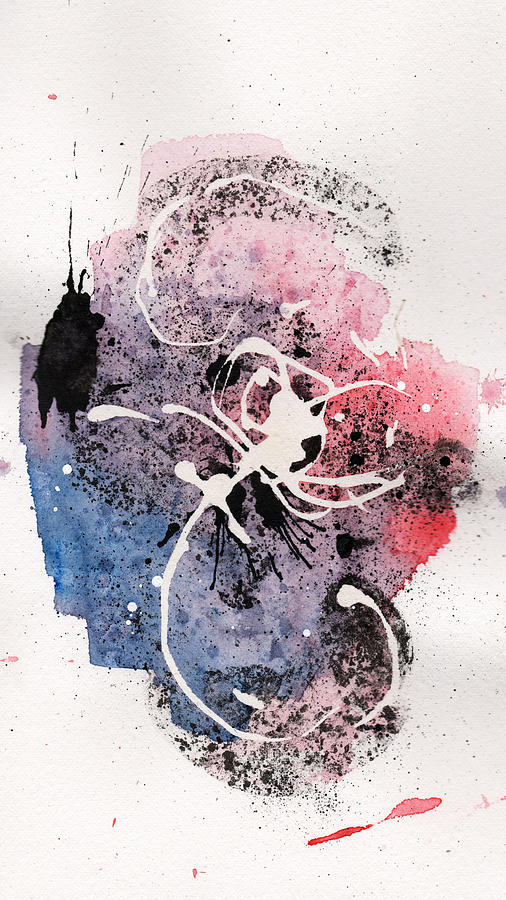 Ink Painting - The Inexplicable Ignition Of Time Expanding Into Free Space Phase Two Number 12 by Mark M  Mellon