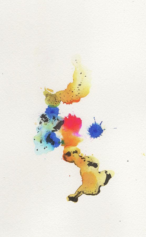 Ink Painting - The Inexplicable Ignition Of Time Expanding Into Free Space Phase Two Number 22 by Mark M  Mellon