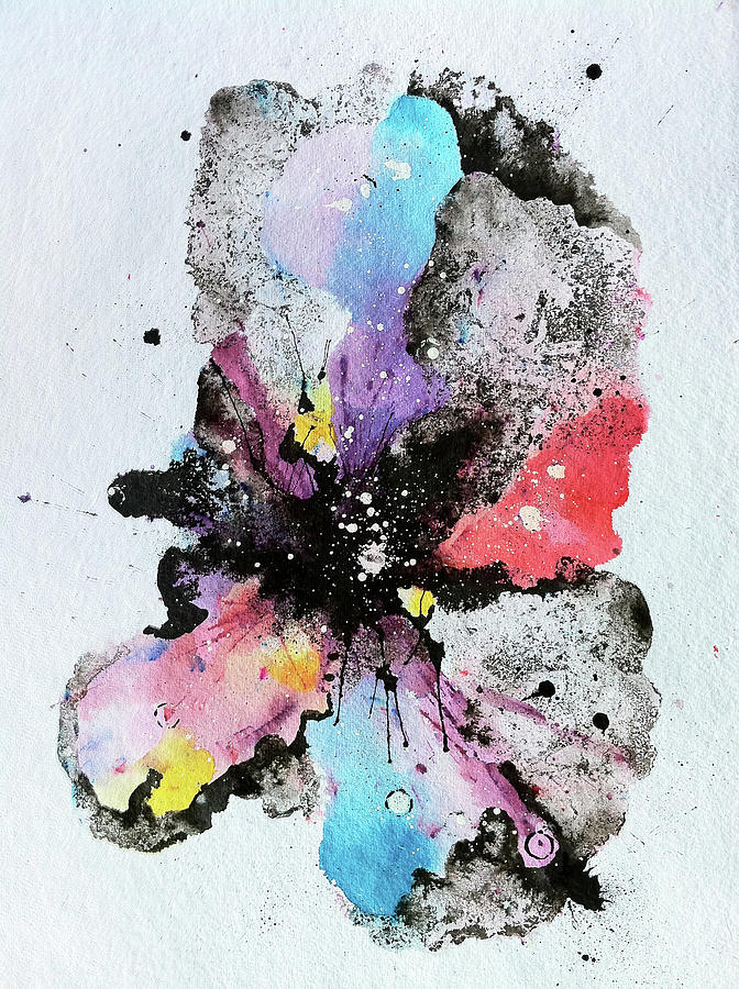Ink Painting - The Inexplicable Ignition Of Time Expanding Into Free Space Phase Two Number 29  by Mark M  Mellon